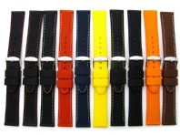 Silicone Watch Strap Diamond Pattern 16mm 18mm 20mm 22mm Lots of Colours! C052